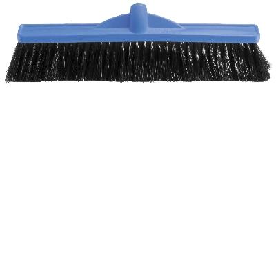 450mm Medium Stiff Poly Broom Blue