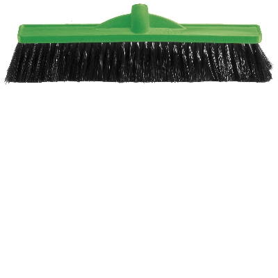 450mm Medium Stiff Poly Broom Green