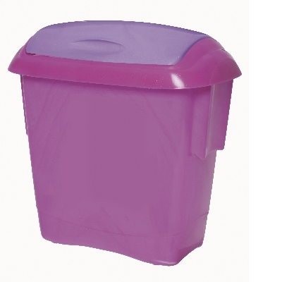 Kids Bins -Pink with Mauve Lid 13 Litre