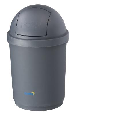Domed Bin - Grey 28 Litre