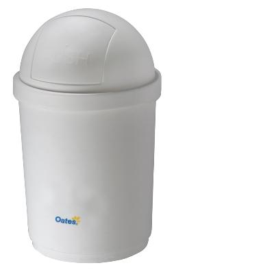 Domed Bin - White 28 Litre